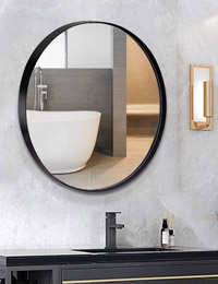 ANDY STAR Round Wall Mirror for Bathroom